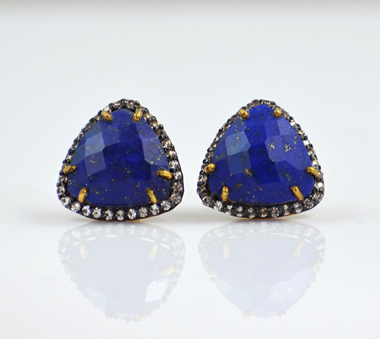lapis-white-topaz-triangle-earrings-etsy-hand-crafted