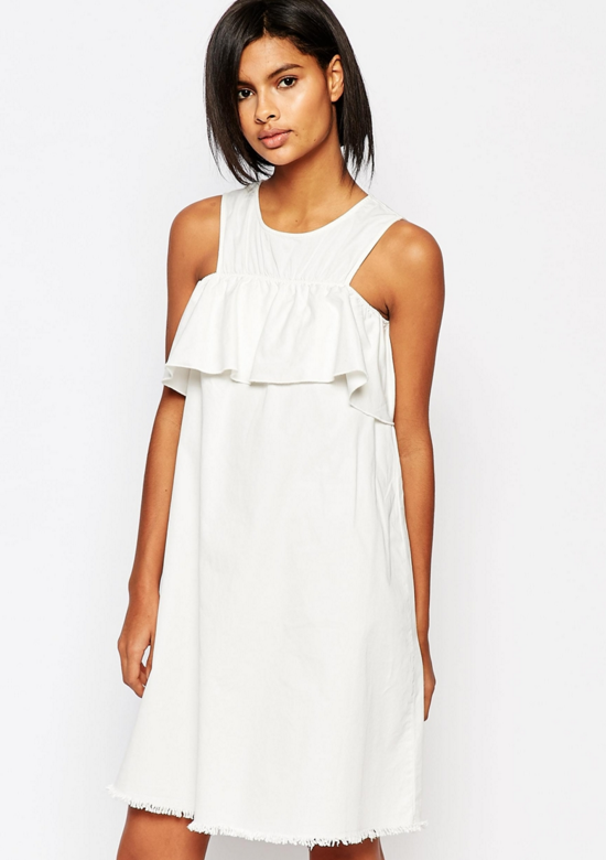 ruffle-shift-dress-bardot-asos