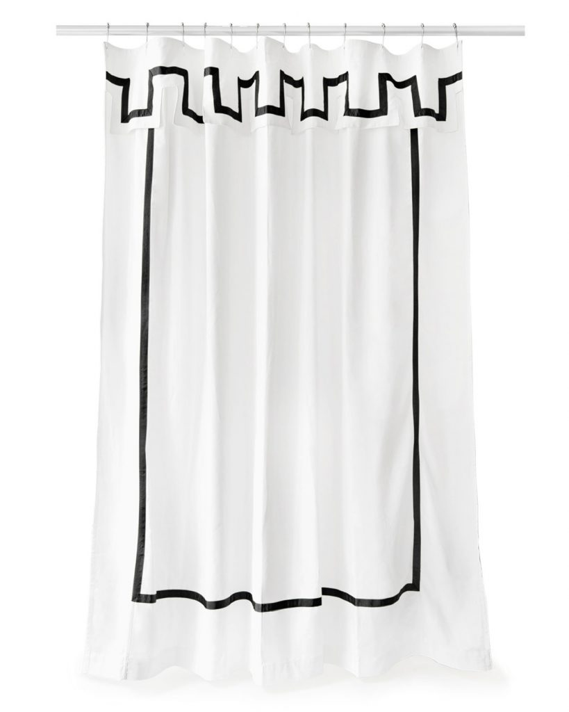 black-border-shower-curtain