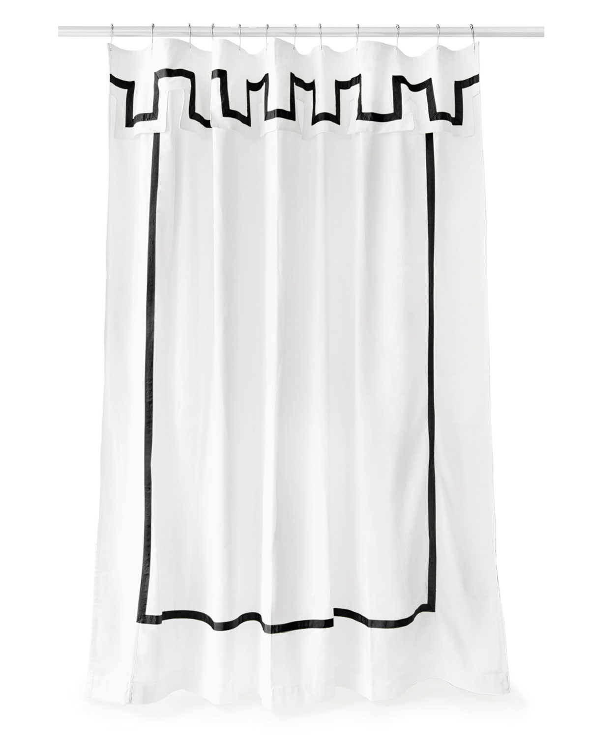 Black Border Shower Curtain