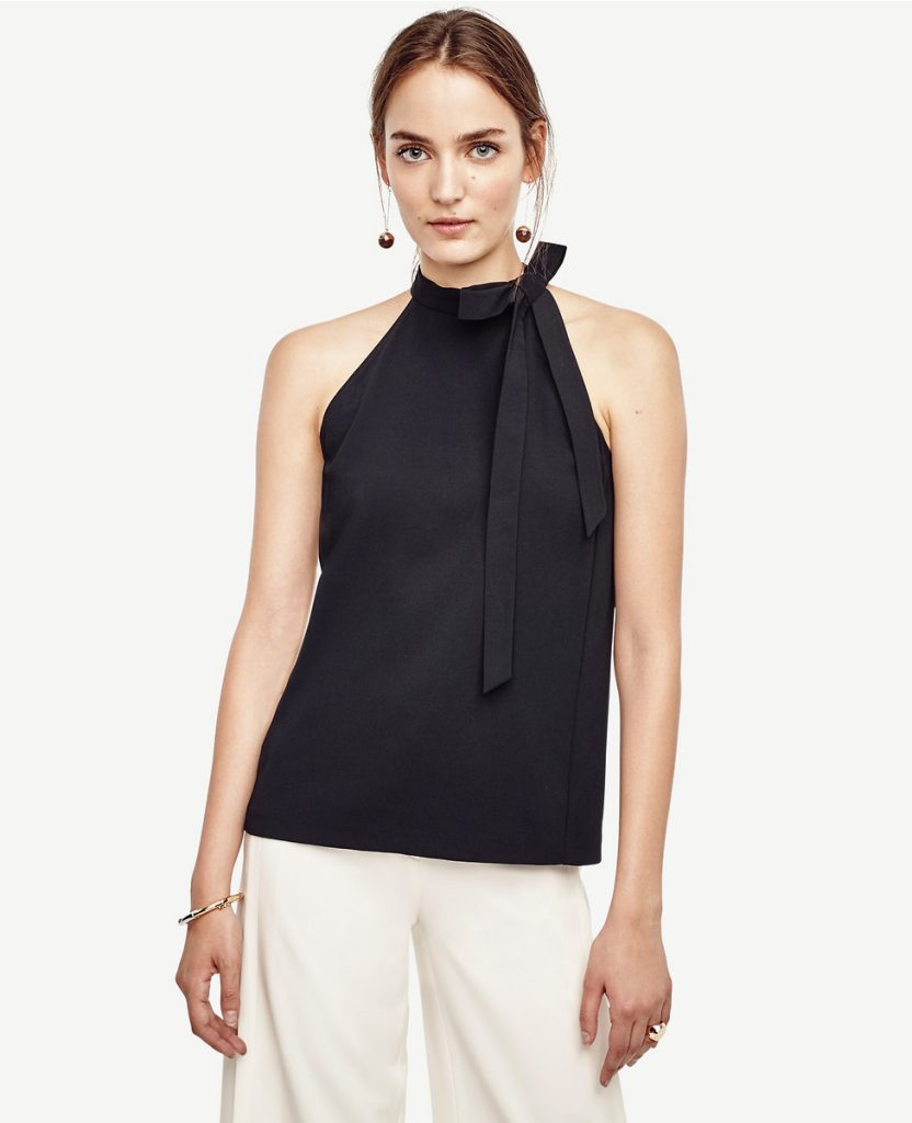 crepe-bow-neck-top