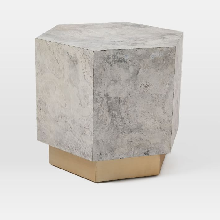 geo-hex-side-table-slate-marble-west-elm