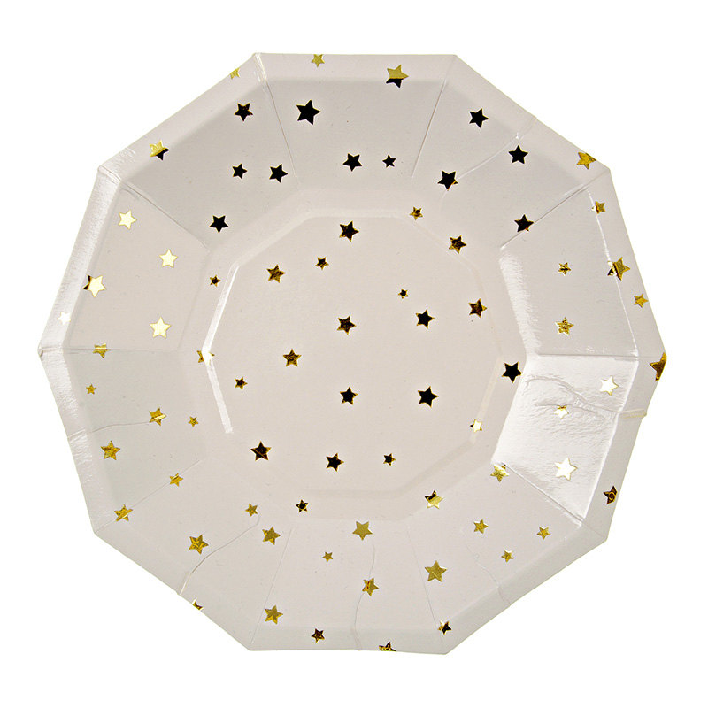 gold-star-paper-party-plate