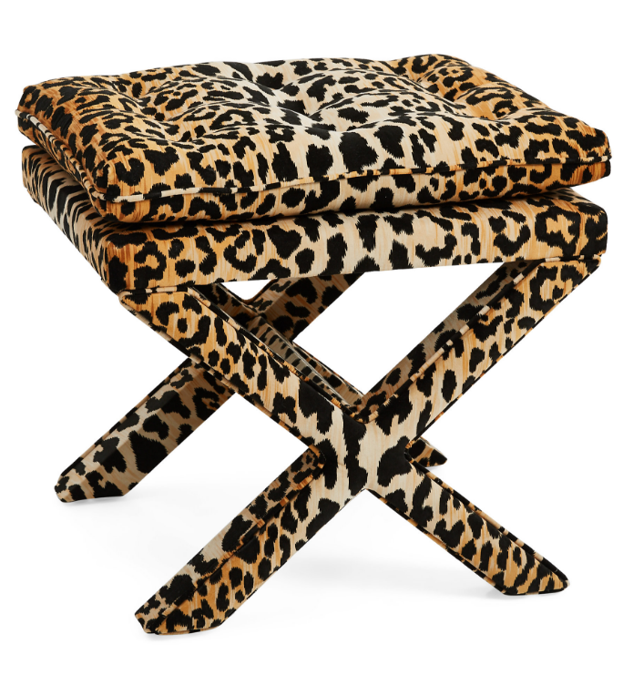 leopard-print-pillow-top-x-bench-ottoman-stool