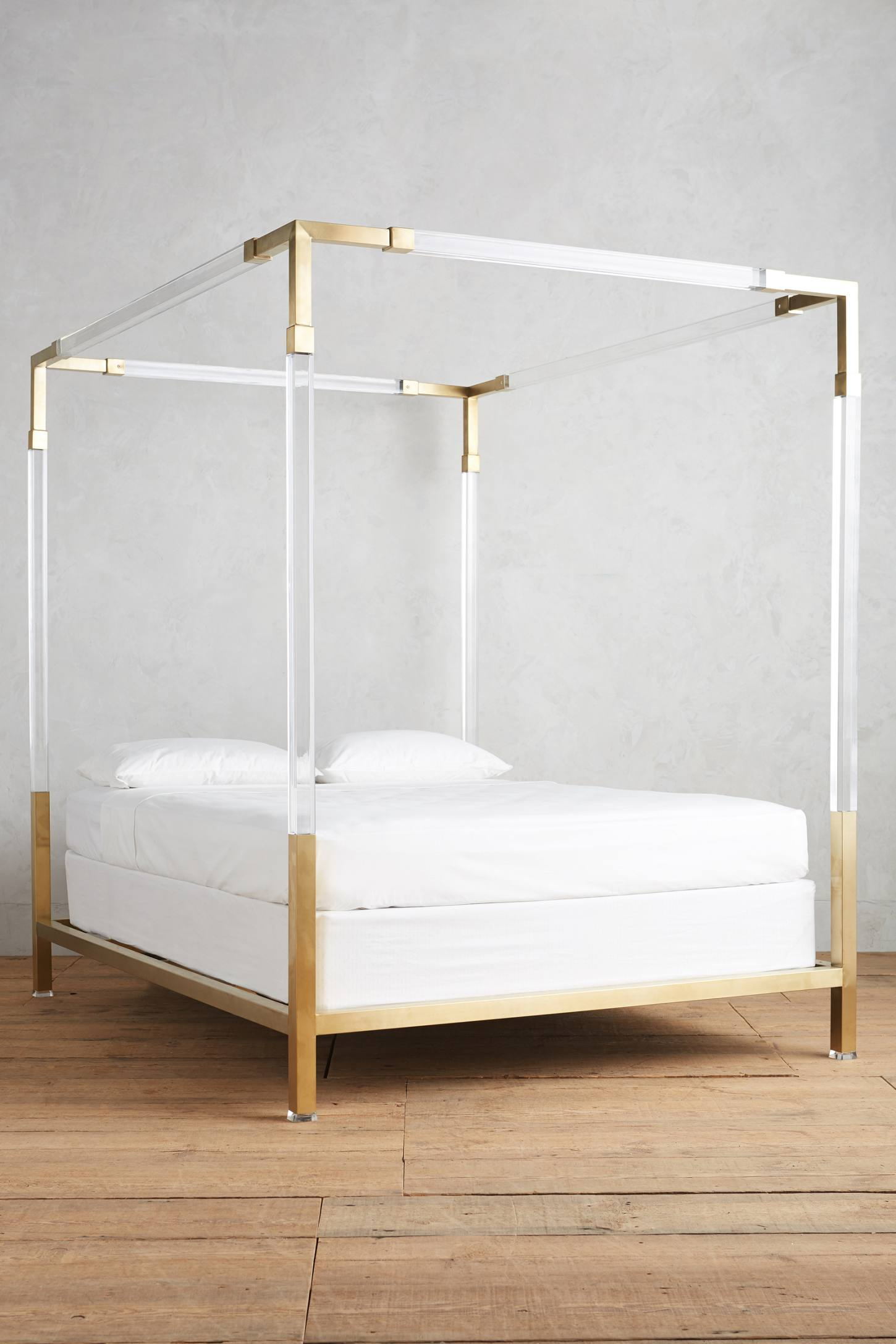 Lucite Acrylic Four Poster Bed Brass Anthropologie Katie Considers