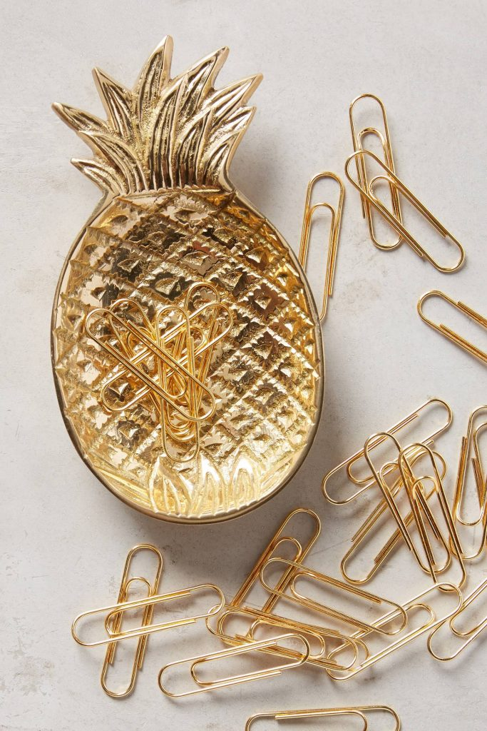 pineapple-brass-gold-trinket-dish-paper-clips