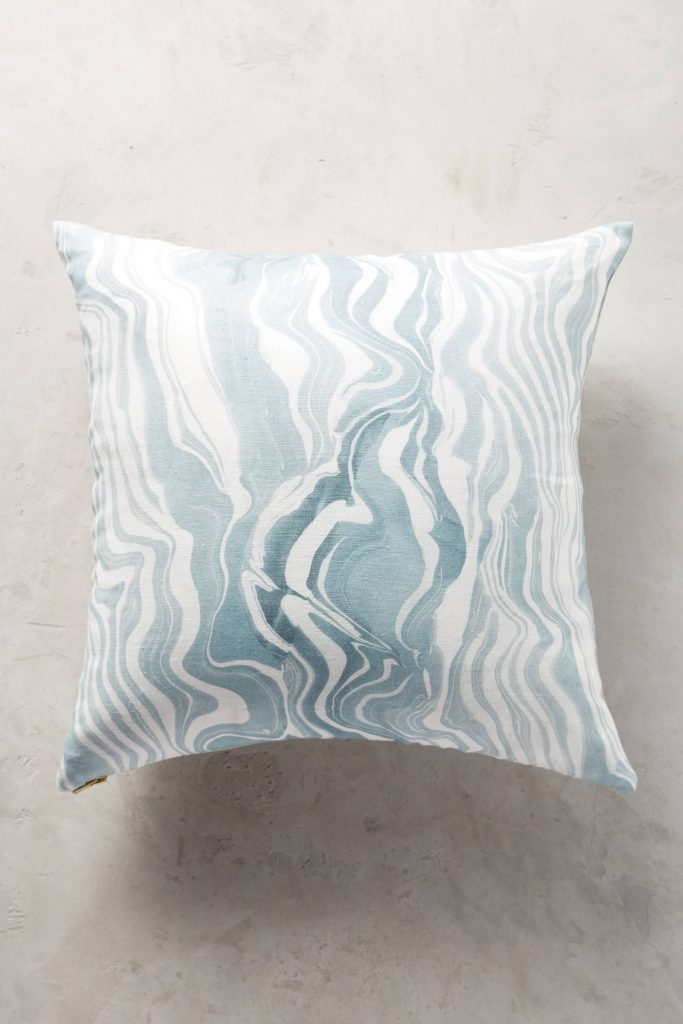 rebecca-atwood-marbled-pillow-blue-white-stripes