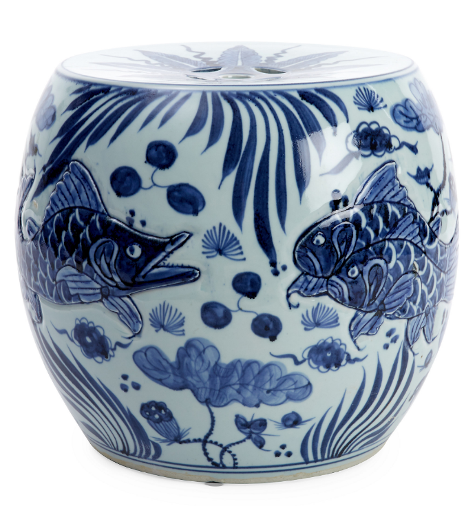 blue-and-white-porcelain-drum-stool