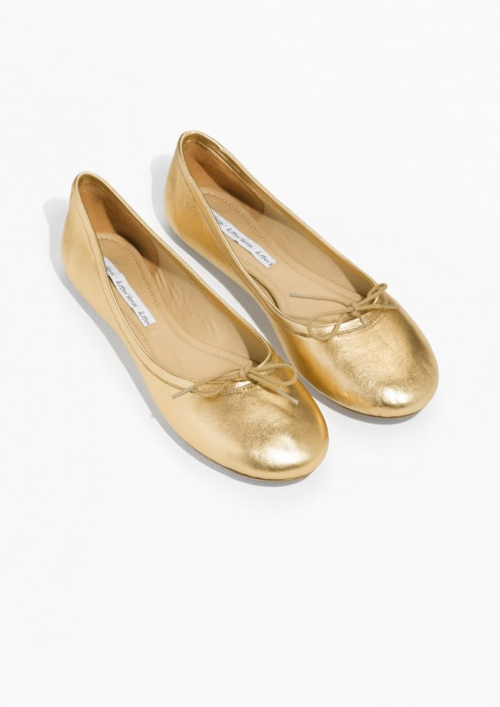 gold-leather-ballerina-flats-other-stories