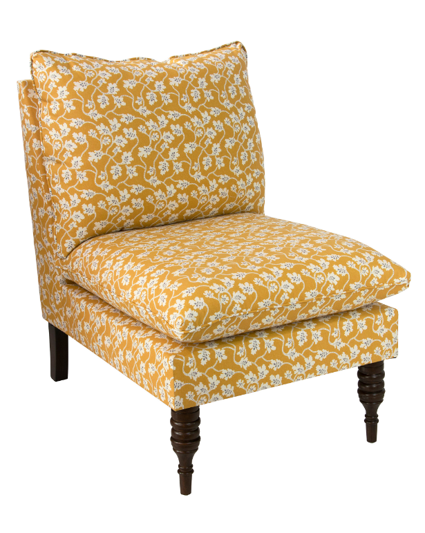 yellow-floral-slipper-chair