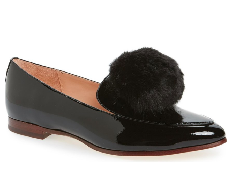 faux-fur-embellished-pom-pom-patent-loafer