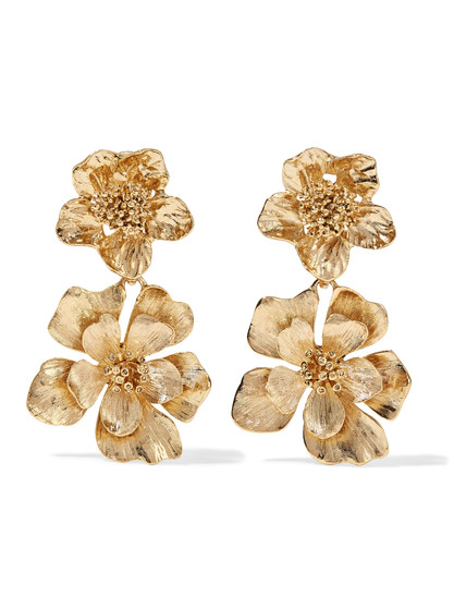 oscar-de-la-renta-gold-tone-floral-clip-earrings