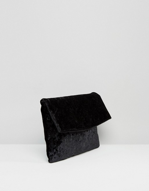 velvet-foldover-clutch-bag