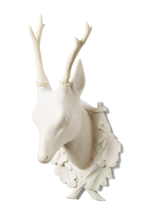 alabaster-stag-faux-taxidermy-white-deer