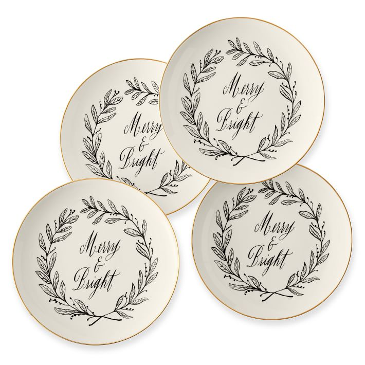 calligraphy-ceramic-dessert-plates-merry-bright