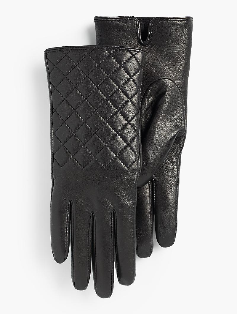 diamond-quilted-leather-gloves