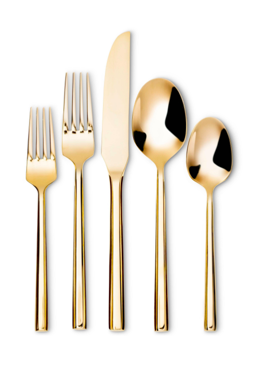 gold-flatware-set