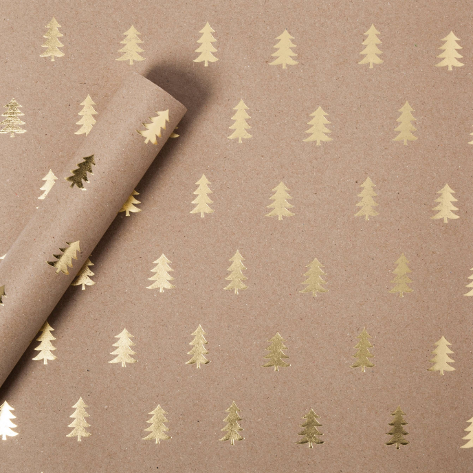 gold-foil-christmas-tree-kraft-wrapping-paper
