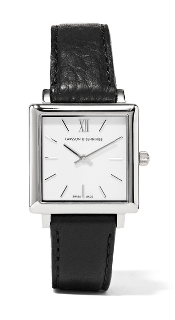 larsson-and-jennings-norse-leather-silver-plated-watch