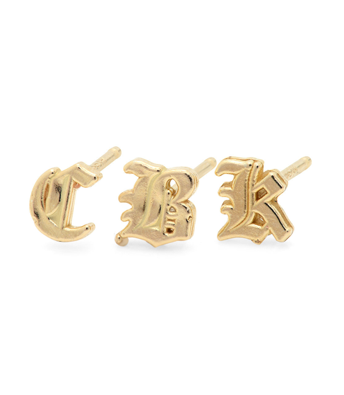 old-english-gothic-initial-earring-gold