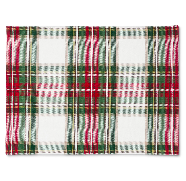 plaid-placemat