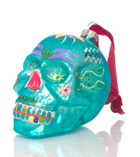 floral-skull-christmas-ornament