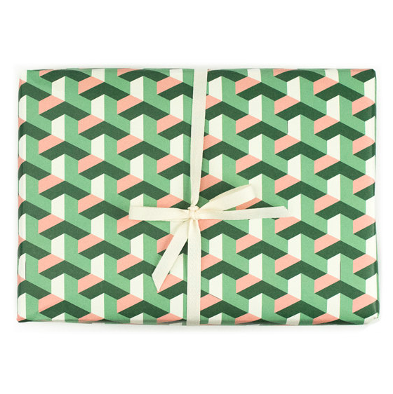 geometric-tile-christmas-gift-wrapping-paper