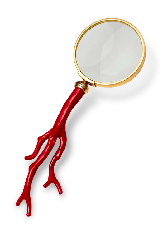 gold-coral-magnifying-glass