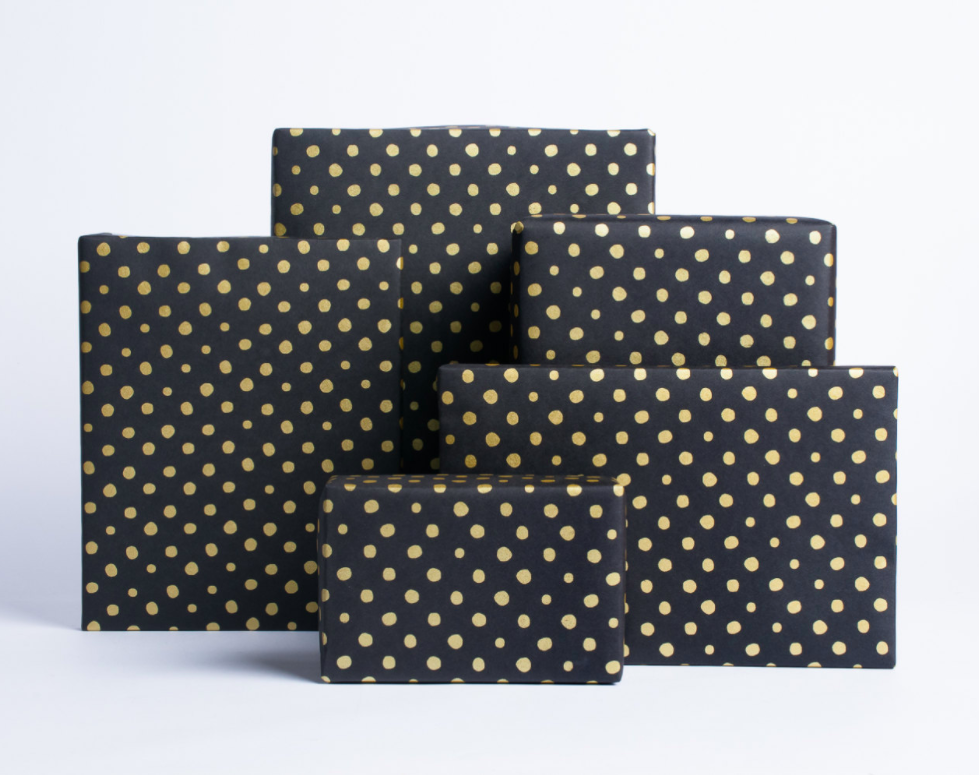 gold-dots-on-black-gift-wrap
