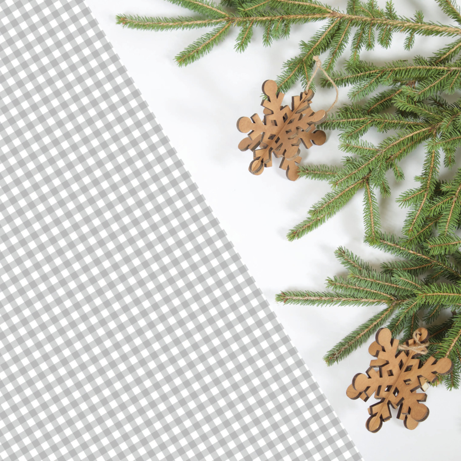 grey-gingham-wrapping-paper