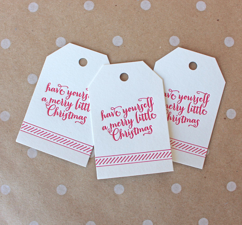 merry-little-christmas-letterpress-gift-cards