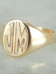 Best of Etsy: Vintage Signet Rings by M.S. Jewelers