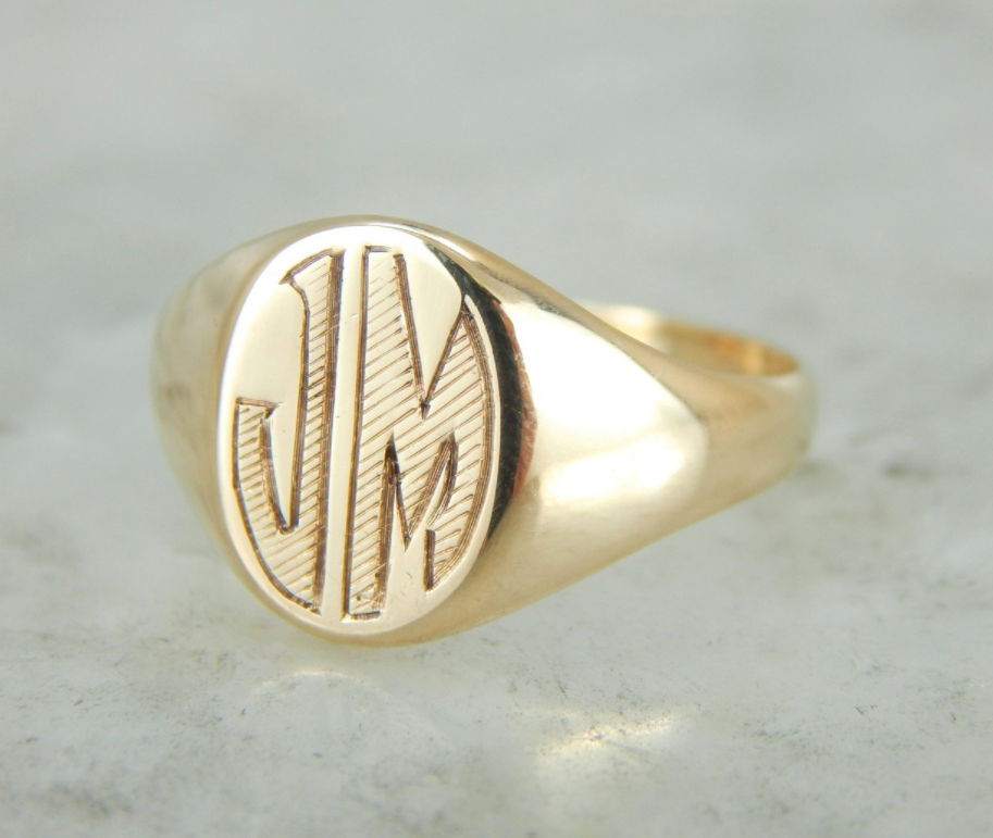 27d6ba86afd51 Best of Etsy: Vintage Signet Rings by M.S. Jewelers - Katie Considers