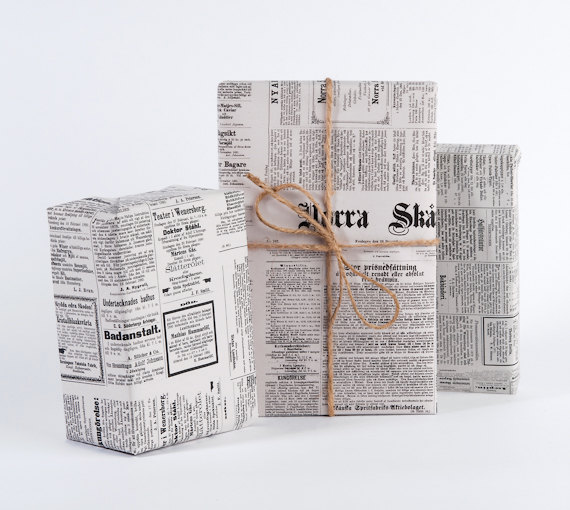 vintage-swedish-newspaper-gift-wrapping