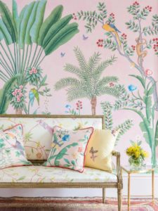 Aquazzura for de Gournay Collaboration