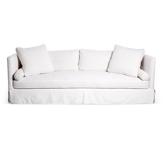 Tom delevan 39 s new york apartment the neo trad for White linen sectional sofa