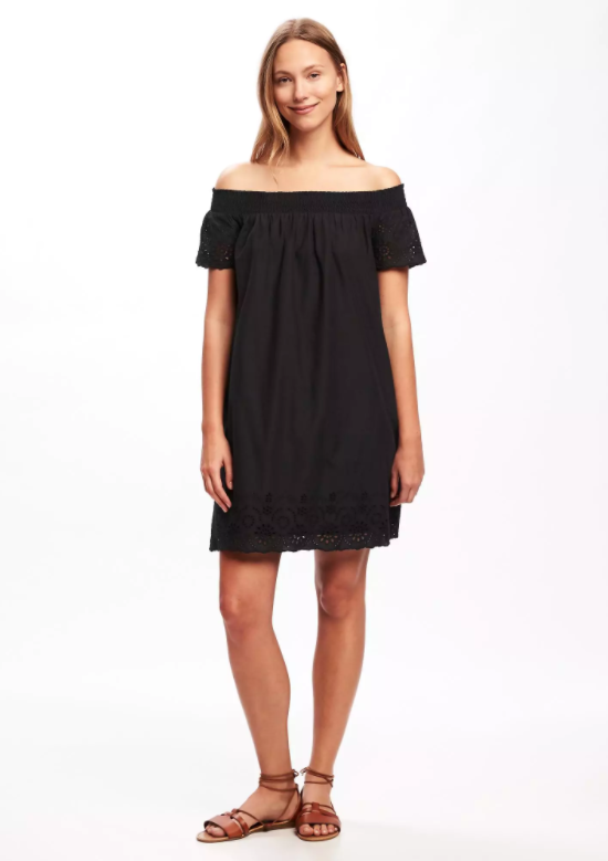 e12c74687579 Off-the-Shoulder Eyelet Dress, $35 (40% off + free 2-day shipping w/code  SPRING)