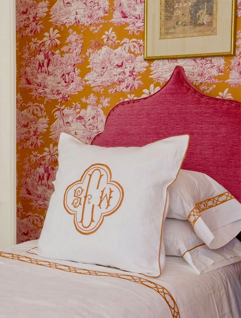 Bengale Toile Wallpaper Pink Orange Bedroom Katie Considers