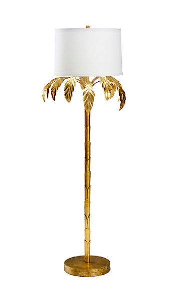 Gold Leaf Palm Tree Floor Lamp Katie Considers
