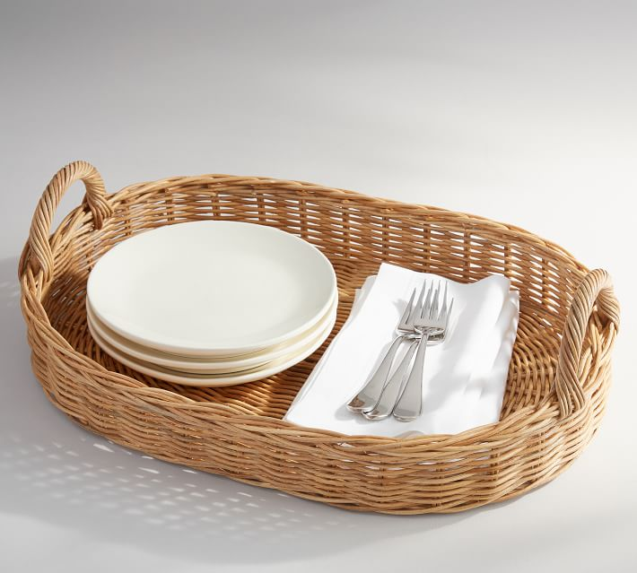 Willow Wicker Serving Tray