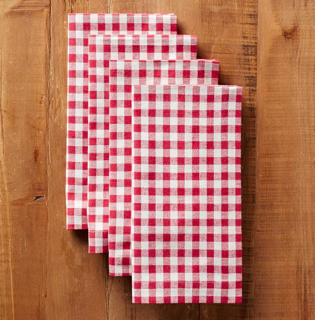 Red Gingham Napkins