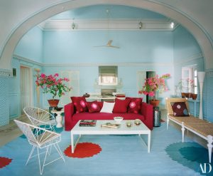 Brilliant Marie Helene De Taillac Home Jaipur India Blue Walls Red Ibusinesslaw Wood Chair Design Ideas Ibusinesslaworg