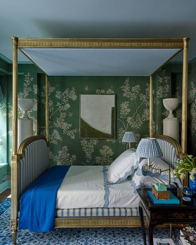Mark D. Sikes' Bedroom for Kips Bay Show House