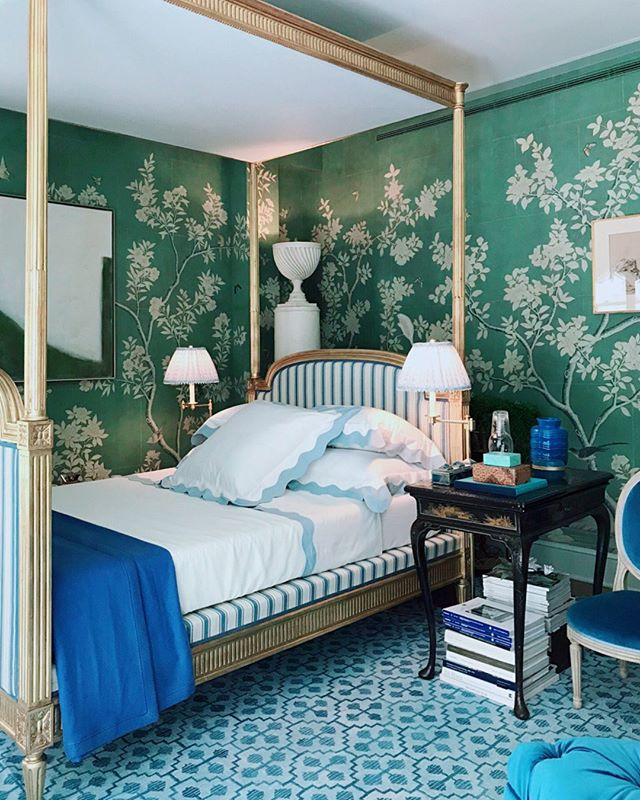 Mark-d-sikes-kips-bay-showhouse-bedroom-green-chinoiserie