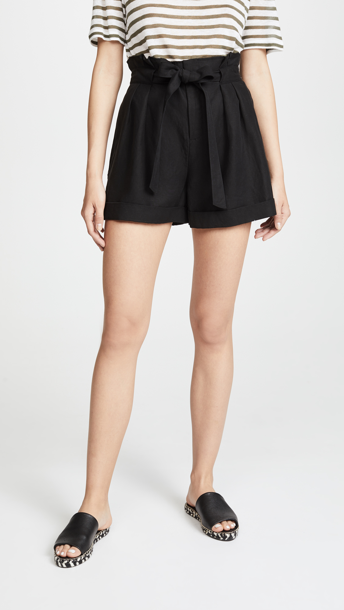 Black Shorts with Bow