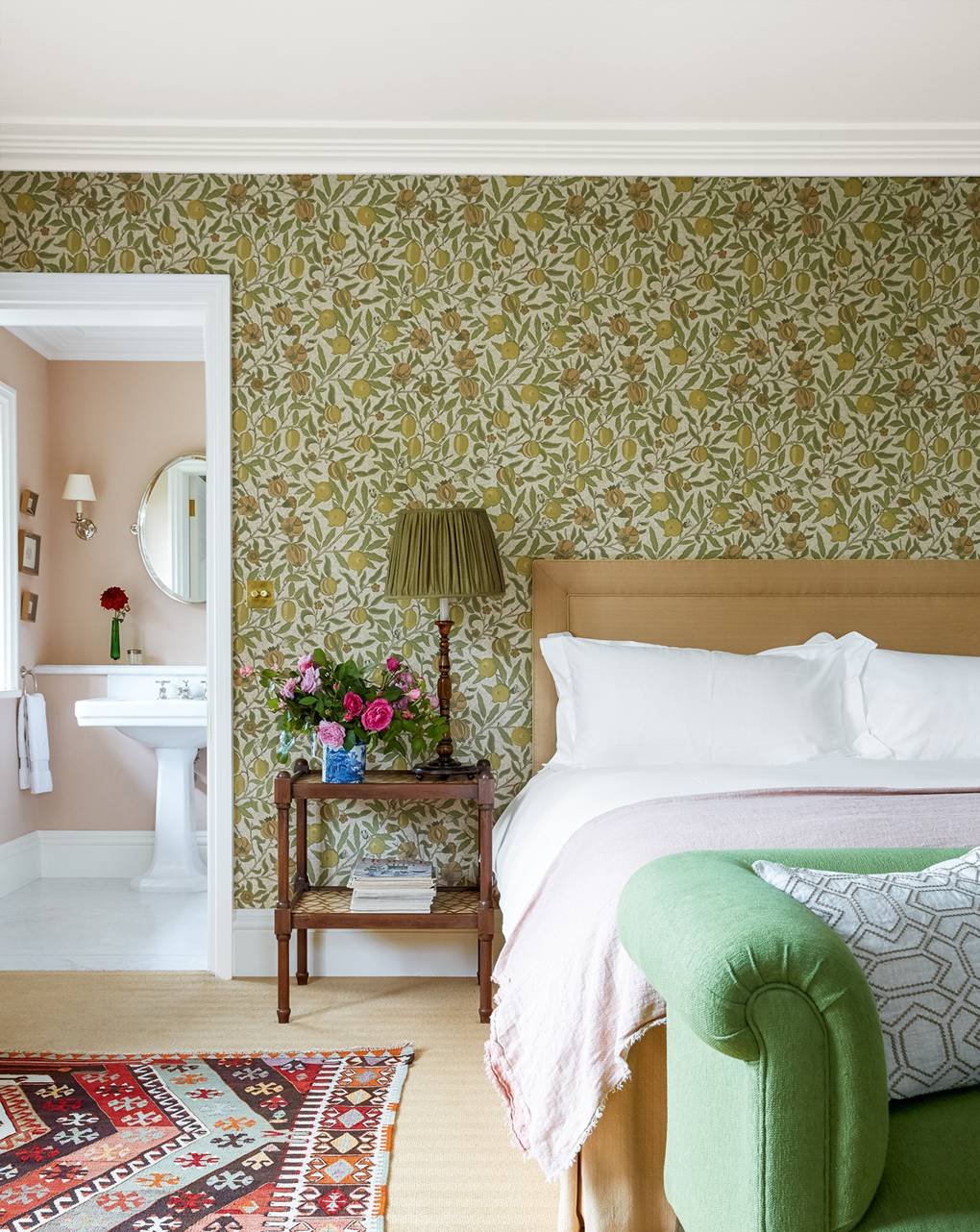 William Morris Fruits Wallpaper Ben Pentreath Bedroom