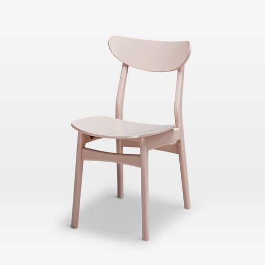 Classic Cafe Lacquer Dining Chair Pink Blush West Elm