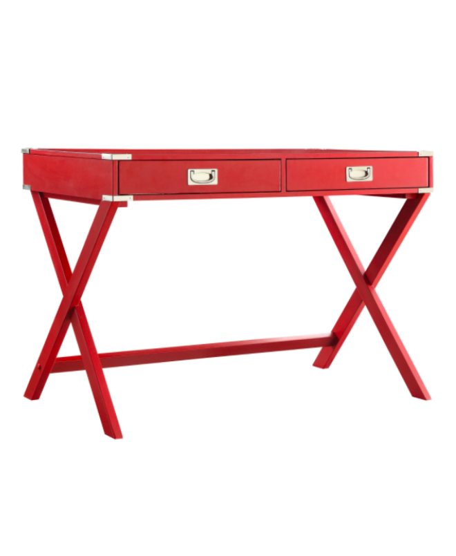 Red Campaign Writing Desk