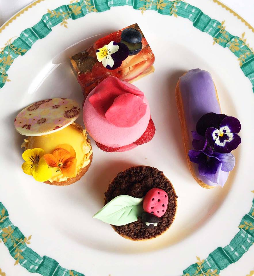 Afternoon Tea Macarons Eclairs Cliveden House England