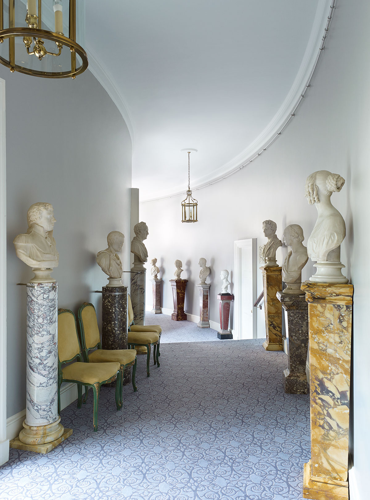 Cliveden House Hotel Marble Pedestals and Busts